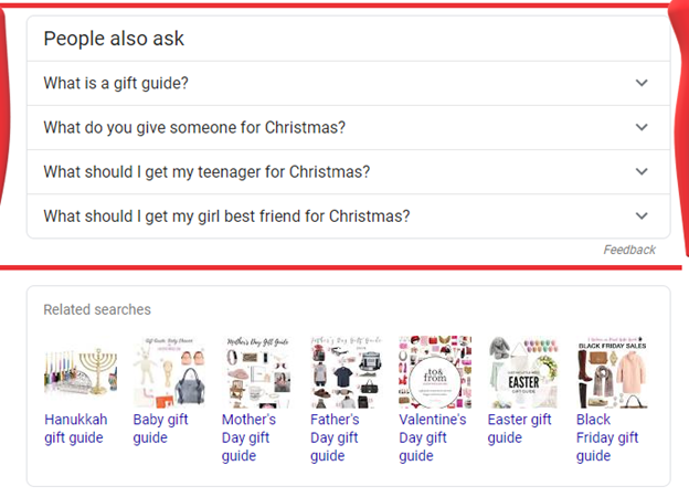 """""""People also ask"""" section on Google search results"""